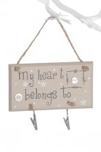 My Heart Belongs To Hanging Wall Plaque