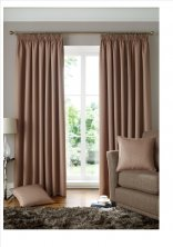 Solitaire Latte Ready Made Curtains