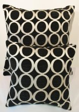 Black 'OH' Cushion Cover
