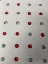 Spot Silver & Berry Kitchen Curtains