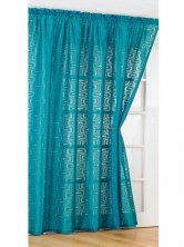 Retro Teal Voile Panel