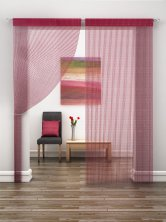 Red Sparkle String Door Curtain