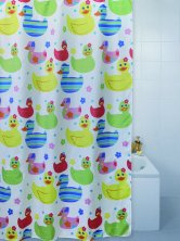 Quackers Duck Polyester Shower Curtain Extra Long