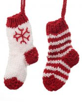 Knitted Socks Christmas Tree Decorations