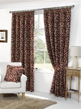 Lynwood Red Ready made Curtains