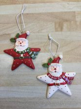 Santa Star Tree Decoration