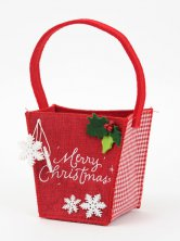 Merry Christmas Felt Bucket Bag