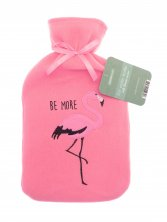 Hot Water Bottle with Fleece Cover