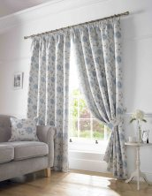Blue Hereford Readymade Curtains