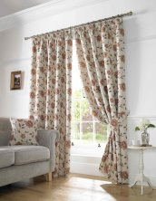 Terracotta Hereford Readymade Curtains