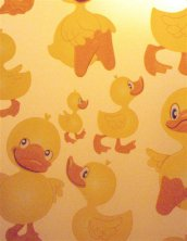 Aqualona Cheeky Ducks Patterned Peva Shower Curtain