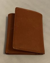 Brown Leather 3 Fold Shirt Wallet