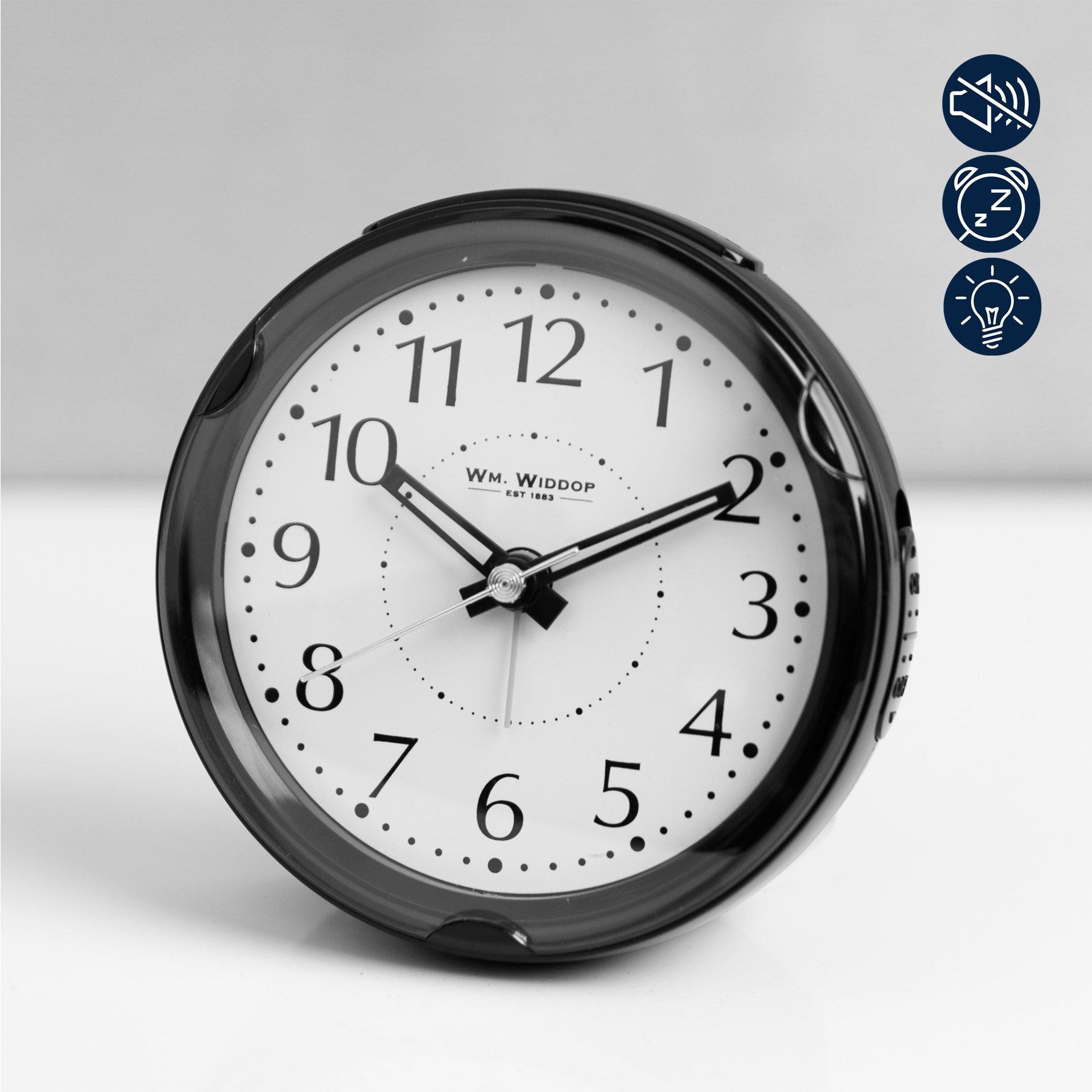 Round Beep Alarm Clock Sweep Snooze Light Connollys