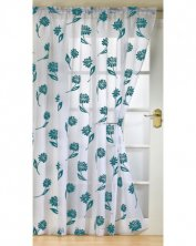 Sicily White & Teal Voile Panel