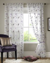 Butterfly Lilac Voile Panel