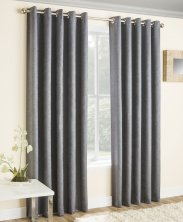 Grey Vogue Blockout Readymade Eyelet Curtains