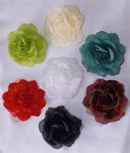 Rose Voile Curtain Tie Backs