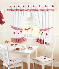 Poppies Kitchen Curtain