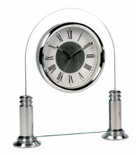 Acctim Bewdley Silver Mantel Clock