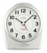 Acctim Astoria Silver Smartlite Silent Sweeper Alarm Clock