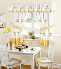 Sunflower Kitchen Curtains