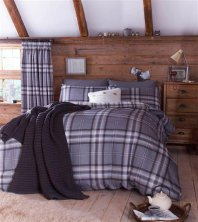 Kelso Charcoal Catherine Lansfield Duvet Set