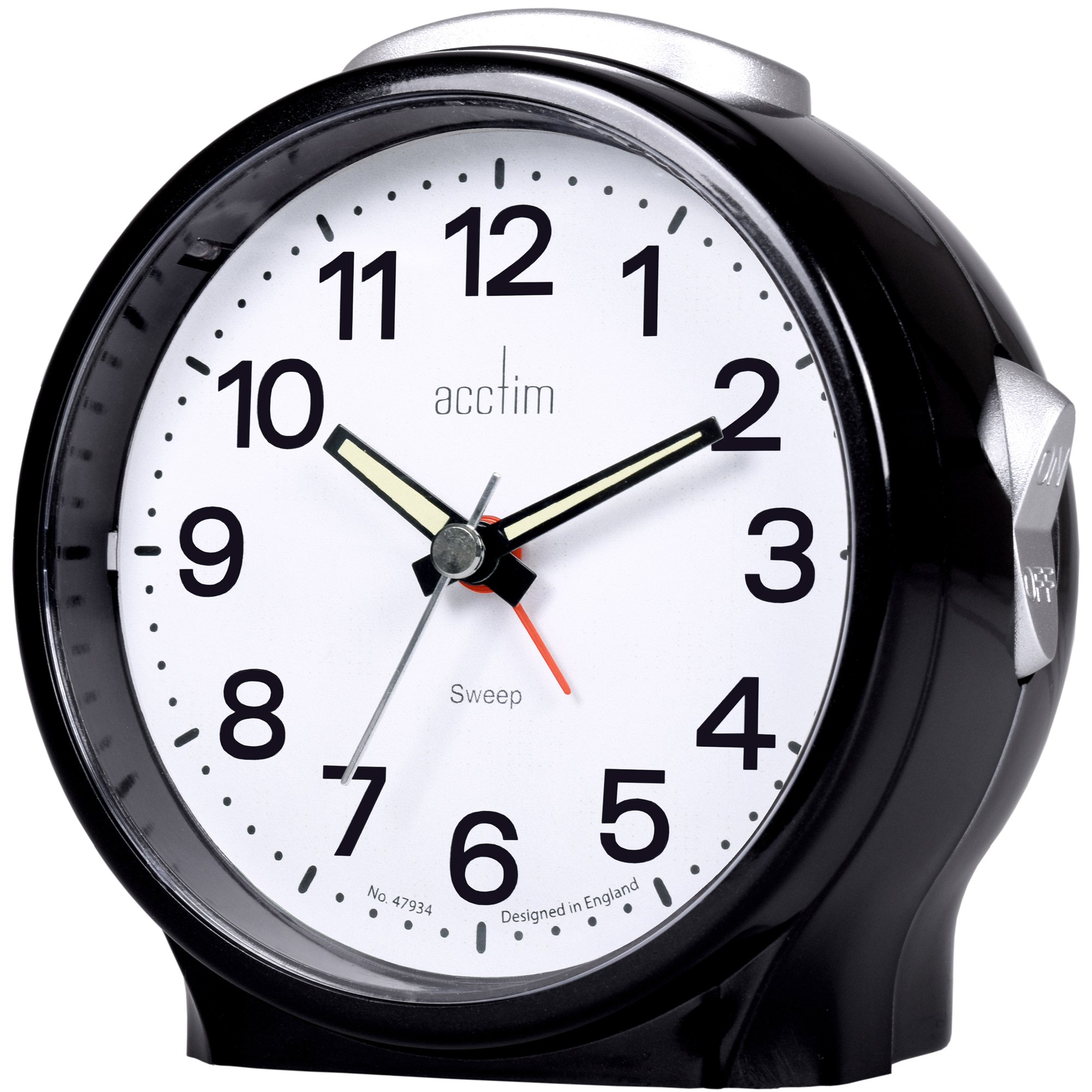 Acctim Elsie Sweeping Alarm Clock 10cm Connollys