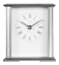Acctim Saltaire Silver Mantel Clock