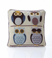 Tapestry 4 Owls Cushion