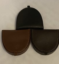Round Leather Coin Holder