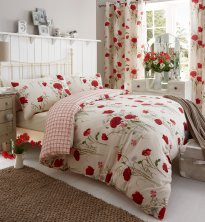 Wild Poppies Catherine Lansfield Duvet Set