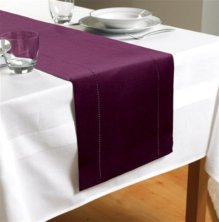 Plum Hem Stitch Table Runner