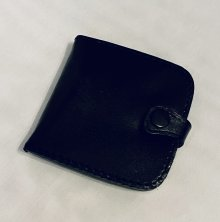 Black Leather Square Coin Holder