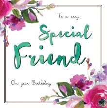 Belle Special Friend Birthday Greetings Card