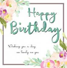 Belle Happy Birthday Greetings Card