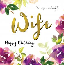 Belle Wife Birthday Greetings Card