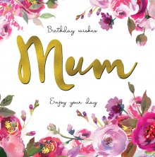 Belle Mum Birthday Greetings Card