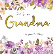 Belle Grandma Birthday Greetings Card