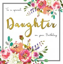 Belle Daughter Birthday Greetings Card