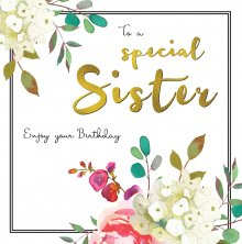 Belle Sister Birthday Greetings Card