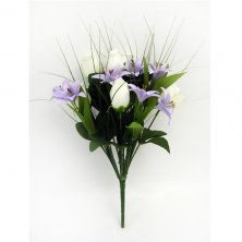 Mixed Bush Lily and Bud Artificial Flowers