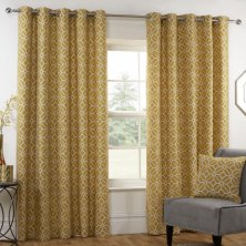 Kelso Ochre Eyelet Ready Made Curtains