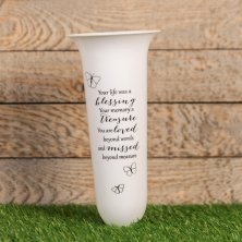 Thoughts of You Graveside Vase - Life With a Blessing
