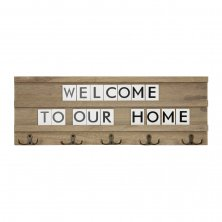 Coat Hook Letter Board - Welcome To Our Home