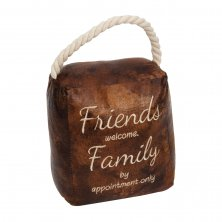 Juliana Home Living Cube Door Stop - Friends Welcome