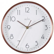 Ava Copper Metal Wall & Desk Clock 15cm