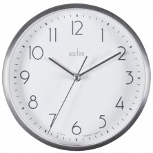 Acctim Ava Silver Metal Wall & Desk Clock 15cm