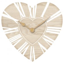 Acctim Saxham Heart Shaped Wall Clock