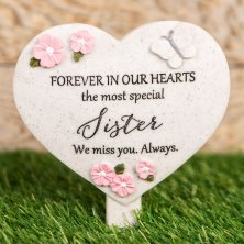 Sister Thoughts Of You Heart Graveside Stake