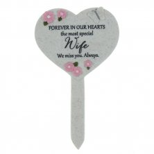 Wife Thoughts Of You Heart Graveside Stake